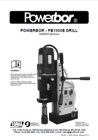 Powerbor 1000E Owners Manual