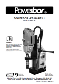 Powerbor 320 Owners Manual