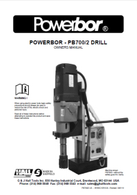 Powerbor 700/2 Owners Manual