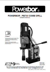 Powerbor 700 CombiPlus Owners Manual