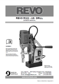 Revo 322 Owners Manual