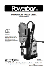 Powerbor 320 and Combi Owners Manual