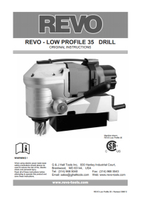 Revo Low Profile 35 Drill