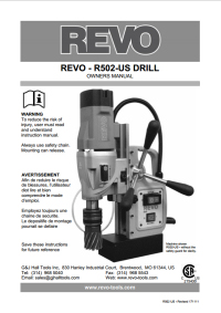 Revo 502 Owners Manual